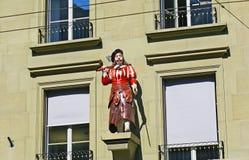 Statyn för slaktare` s i Berne arkivbilder