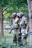 Statyn för tre soldater som firar minnet av vietnamkriget i Washington D C Fotografering för Bildbyråer