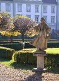 Statyn i den Furstenfeld abbotskloster parkerar Royaltyfri Fotografi