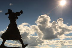 Statyn i Matryoshka kvadrerar Fotografering för Bildbyråer