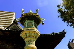 Statyn på Wakamatsu parkerar Royaltyfria Bilder