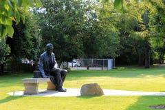 Statyn parkerar in royaltyfri fotografi