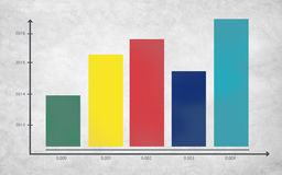 Statystyczny Prętowego wykresu bazy danych Ewidencyjny pojęcie Zdjęcie Stock