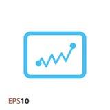 Statystyki ikona dla sieci i wiszącej ozdoby Zdjęcie Stock