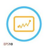 Statystyki ikona dla sieci i wiszącej ozdoby Fotografia Stock