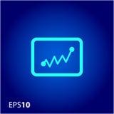 Statystyki ikona dla sieci i wiszącej ozdoby Obrazy Stock