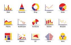 Statystyki ikony set ilustracja wektor