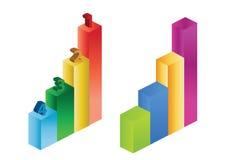 statystyki przedsiębiorstw wektorowe 2 d Zdjęcia Royalty Free