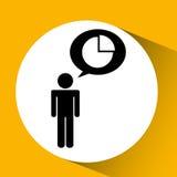 statystyki w kwadratowy guzik odizolowywającym ikona projekcie Zdjęcia Royalty Free