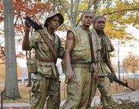StatyWashington för tre militärer DC Arkivbild