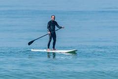 statywowy paddle surfingowiec Fotografia Royalty Free