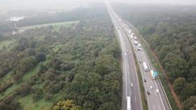 Stau auf einem deutschen Autobahn stock footage