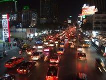 Stau in Bangkok Stockfotos