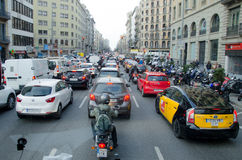 Stau, Barcelona Stockfoto