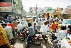 Stau in der indischen Stadt Lizenzfreies Stockbild