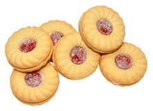 Stau gefüllte Kekse lizenzfreies stockfoto