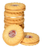 Stau gefüllte Kekse stockfoto