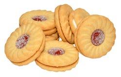 Stau gefüllte Kekse stockbilder