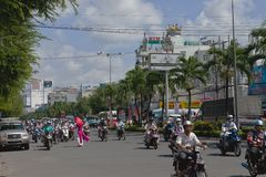 Stau in Ho Chi Minh Stadt Vietnam Lizenzfreie Stockfotografie