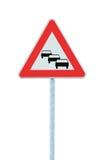 Stau steht wahrscheinliches Verkehrsschild an, erwarten die voran warnenden Verzögerungen Lizenzfreie Stockfotografie