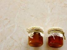 Stau und Honig Stockfoto