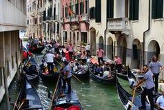 Stau in Venedig Lizenzfreie Stockbilder