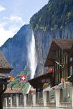 Staubachfall in Lauterbrunnen, Switzerland Stock Images