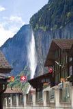 Staubachfall in Lauterbrunnen, Switzerland Stock Images