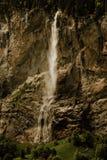 Staubbach瀑布在卢达本纳瑞士 库存照片