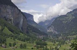 Staubbach Falls, Lauterbrunnen, Switzerland Stock Photos