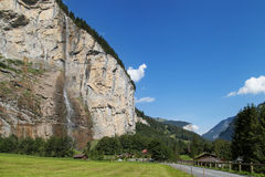 Staubbach falls in Lauterbrunnen Royalty Free Stock Photo