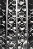 Staubige Flaschenunterseiten lizenzfreie stockfotos