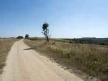Staubige Land-Straße Stockbild