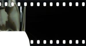 Staubiger verkratzter Stehfilm des schwarzen Schmutzes wird als Hintergrund verwendet möglicherweise Stockfotos