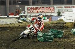 Staubiges klatt an supermotocross 2009 Lizenzfreie Stockbilder