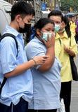 Staubverschmutzung in Bangkok lizenzfreies stockfoto