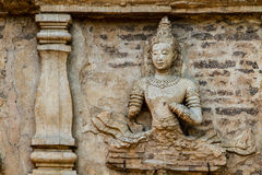 Staue of angel wat jedyod chiangmai Thailand Stock Photography
