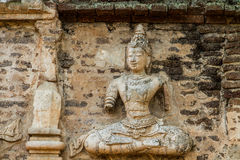 Staue of angel wat jedyod chiangmai Thailand Royalty Free Stock Image