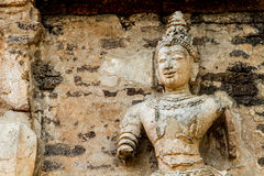 Staue of angel wat jedyod chiangmai Thailand Stock Photo