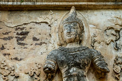 Staue of angel wat jedyod chiangmai Thailand Royalty Free Stock Photography