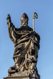 Staue on the Charles Bridge in Prague, Czech Republic. Stock Photo