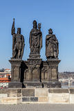 Staue on the Charles Bridge in Prague Royalty Free Stock Images