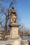 Staue on the Charles Bridge in Prague Royalty Free Stock Photography