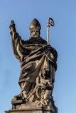 Staue on the Charles Bridge in Prague Stock Images
