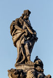 Staue on the Charles Bridge in Prague Royalty Free Stock Photos