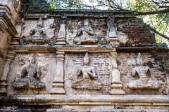 Staue del chiangmai Tailandia del jedyod del wat del ángel Fotografía de archivo