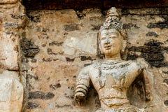Staue del chiangmai Tailandia del jedyod del wat del ángel Foto de archivo