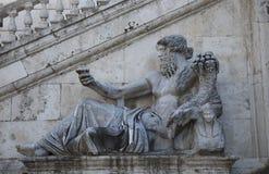 Staue in Rome of Tiberius, river god. Royalty Free Stock Images