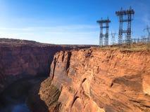 Stauen Sie Glen Canyon nahe der Stadt der Seite und der Antilopenschlucht lizenzfreie stockfotografie