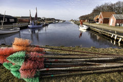 Stauning harbor in the western part of Denmark Royalty Free Stock Photography
